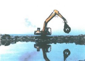 دیوار سازی ساحل دریا در بندر انزلی
