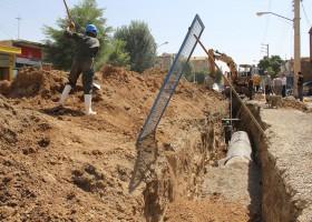 اجرای خط انتقال شبکه فاضلاب قصر شیرین به تصفیه خانه