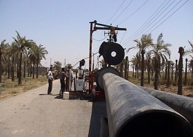 احداث شبکه زهکش مزارع نخیلات نواحی عمرانی KQ1~3