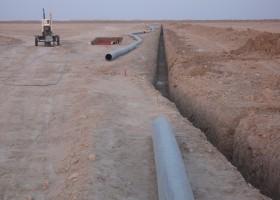 احداث شبکه اصلی و فرعی آبیاری و زهکش شمال خرمشهر ( 2 )