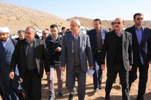 بازدید استاندار قزوین از سد مخزنی نهب در تاکستان